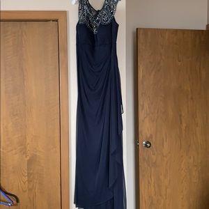 Navy long length formal